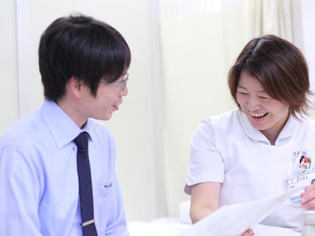 看護師の療養指導風景